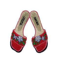 ID #1816 Lady Girls Sandals Shoes Fashion Embroidered Iron On Applique Patch