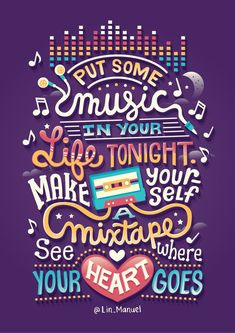 Illustrated Linspirations on Behance Put some music in your life tonight.