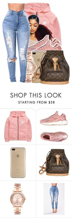 """""""Untitled #215"""" by glowithbria ❤ liked on Polyvore featuring NIKE, Speck, Louis Vuitton and Michael Kors"""