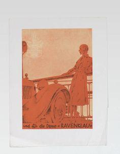 Werbeanzeige für Ravenklau Zigaretten (vom Bearbeiter vergebener Titel) Entstehung / Datierung: Deutsch-Dryden, Ernst, Entwurf, um 1929