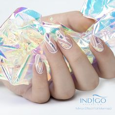 Mermaid Mirror Effect Foil | Indigo Nails