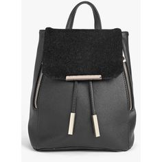 Boohoo Ava Zip Detail Faux Pony Mix Rucksack ($35) ❤ liked on Polyvore featuring bags, backpacks, black, envelope clutch, party bags, crossbody bags, envelope clutch bag and shopping bag