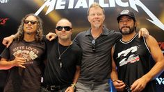 Metallica ends their feud with Napster and making their music available for their fans on Spotify. Rock N Roll, Metallica Band, Legend Music, Enter Sandman, Rock News, Song List, Rhythm And Blues, Thrash Metal, Band Merch