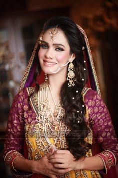 She is a beautiful bride. Her choice of wedding apparel is quite commendable. Her perfect sense of color combination & jewelry collection makes her the perfect bride of this season! by http://www.shaadiekhas.com/