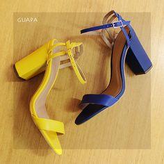 ARRASE com o salto bloco mais charmoso da estação! #altoverãoguapa R$ 149,99. #sandalia #amarelo #azulklein #sapato #casualchic #estilo #guapa #amoguapa #shoes #moda #modafeminina #fortaleza #saoluis #teresina #brasil #aldeota #maracanau #benfica #viasul #patiodomluis #shopping #messejana #joquei #northshopping #riverside #riomarfortaleza #shoppingriomar
