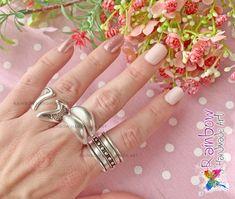 Handmade jewelry and more! Handmade Art, Handmade Jewelry, Silver Rings, Rainbow, Rain Bow, Rainbows, Handmade Jewellery, Jewellery Making, Diy Jewelry