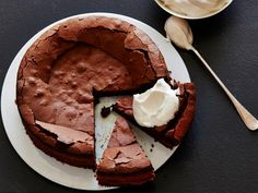 Craggy Chocolate Cake : Recipes : Cooking Channel Recipe   Laura Calder   Cooking Channel