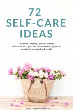 Here are 72 self-care ideas for when you need to reflect, when you need to be energetic, creative, challenged, or when you simply need to rest. Spiritual Needs, Affirmations, Self Development, Personal Development, Self Care Activities, Health And Wellness, Mental Health, Wellness Tips, Love Tips