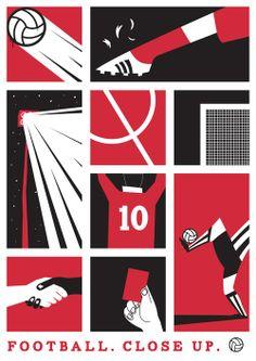 Ideas For Sport Poster Retro Graphic Design Jazz Poster, Retro Poster, Retro Football, Football Design, Football Art, Football Posters, Football Football, Soccer Art, Soccer Poster