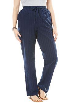 24b322025aa Seersucker pants - Women s Plus Size Clothing Seersucker Pants