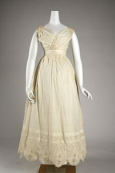 Dress - Dress Date: ca. 1820 Culture: American or European Medium: [no medium available] Dimensions: [no dimensions available] Credit Line: Gift of Miss Eleanor Mitchell, 1942
