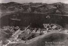 Aerial view of Subic Bay in 1898. Fred LaVenuta
