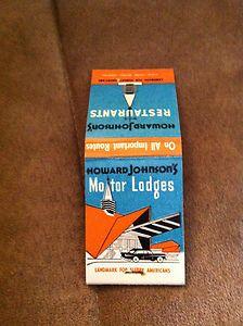 Vintage Howard Johnson's matchbooks!!  Go Bid!