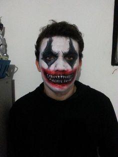 maquiagem para halloween masculina palhaço