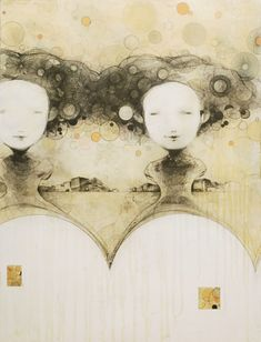 Ryan Price - four mothers - 2010 Art Faces, Face Art, Collage Drawing, Art Drawings, Ryan Price, Mixed Media Art, Painting Inspiration, Tao, Sketching