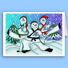 7 best holiday martial arts greeting cards images on pinterest in karate christmas snowmen cards christmas cards christmas snowman holiday cards snowman cards m4hsunfo