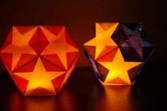 Dodecahedron Star Lantern {Tutorial} - these are so cool! Easy to make, and perfect for the winter holidays!