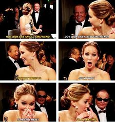 This was such a FUNNY moment... so totally inappropriate but SUPER funny!!!! A Jenifer Lawrence And Jack Nicholson Funny Quotes