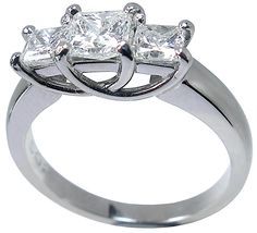3 stone diamond ring in white gold from Petersens Jewellers Merivale, Christchurch