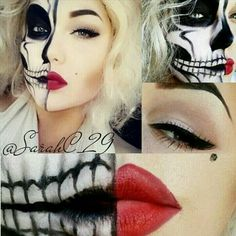 Would be a great Halloween look!