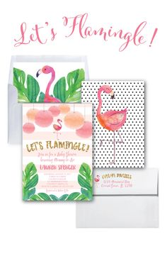 Flamingo Bachelorette Invitation // Let's by MerrimentPress
