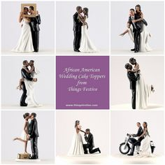 African American Wedding Cake Toppers - New & Charming http://thingsfestive.blogspot.com/2012/08/african-american-wedding-cake-toppers.html