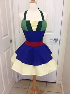 Mulan adult full apron