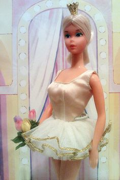 """Ballerina Barbie from the 70s. She was one of my first Barbies and I named her """"Lisa."""" Her hair eventually want super frizzy."""