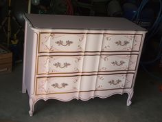 french prov. painted pale pinks and bronze