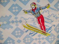 Vintage ski fabric
