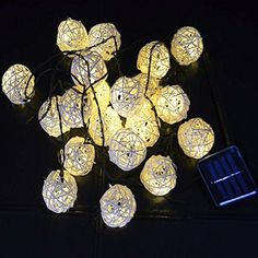 LEEPO Solar Christmas Lights 15.7ft 20 LED 2 Modes Rattan Ball Fairy String Lights for Outdoor, Gardens, Homes, Wedding, Christmas Party, Waterproof LEEPO http://www.amazon.com/dp/B013S3N1HY/ref=cm_sw_r_pi_dp_z8rfxb15D2SKQ