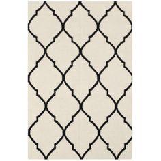 Vlnený koberec Caroline Ivory/Black, 120x180 cm