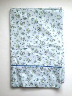 Vintage Blue Floral Pillowcases Set of 2 by MoomettesCrochet