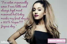8 Times Vegan Powerhouse Ariana Grande Said Something Completely Awesome