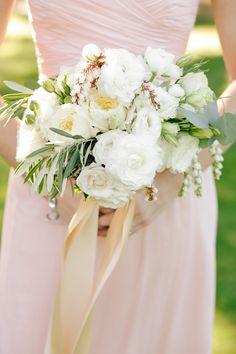 chic white wedding bouquet; photo: Annabella Charles