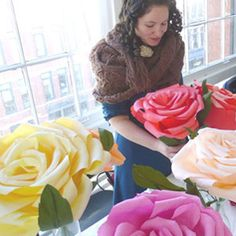 DIY Giant Paper Flower Tutorial