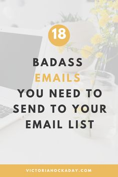 Stumped on what to send to your email list? Don't know what the HECK to say?Here's 18 badass emails that you need to send to your email list! learn how to make money from social media Email Marketing Design, Email Marketing Campaign, Email Marketing Strategy, E-mail Marketing, Email Design, Internet Marketing, Online Marketing, Content Marketing, Marketing Ideas