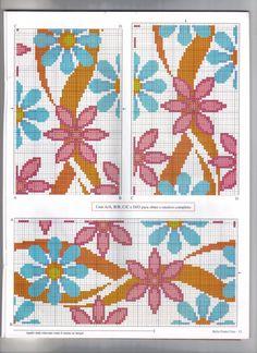 Designer Knitting Patterns, Tapestry Crochet Patterns, Cross Stitch Designs, Cross Stitch Patterns, Cross Stitching, Cross Stitch Embroidery, Cross Stitch Flowers, Beaded Flowers, Needlepoint