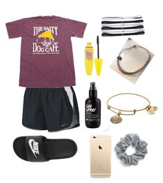 Untitled #2 by ella-is-aweosme on Polyvore featuring polyvore, NIKE, Alex and Ani, Natasha, Maybelline, fashion, style and clothing