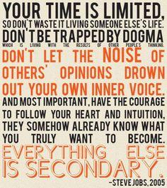 Some Steve Jobs wisdom