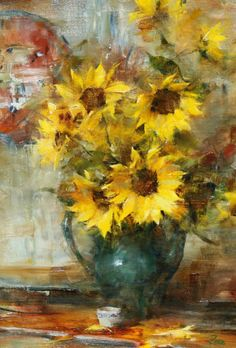 Still Life - Laura Robb Landscape Painting Images, Sunflower Art, Sunflower Watercolour, Still Life Flowers, Painting Still Life, Fruit Painting, Beautiful Paintings, Amazing Art, Canvas