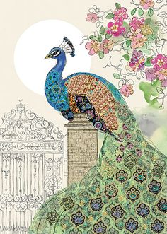 BugArt Collage ~ Peacock Gate. Collage *NEW* Designed by Jane Crowther.