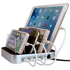 Simicore Usb Charging Station Dock Organizer For Smartphones Tablets Other Gadgets