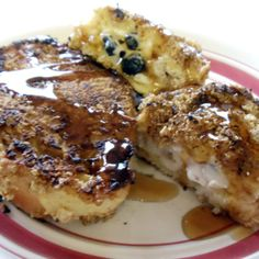 Honey Blueberry Stuffed French Toast Recipe   Just A Pinch Recipes