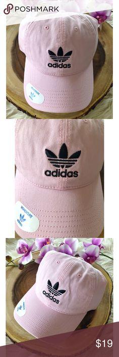 NWT Adidas Pink Originals Relaxed Strapback Cap -BRAND NEW WITH TAGS  -Adidas Originals Relaxed 277c90d3899