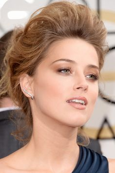 The exact makeup Amber Heard was wearing at the 2014 Golden Globes.