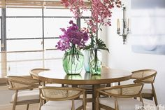 Stunning orchids with simple neutral decor
