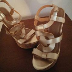 Gold wedges Gold wedges gently worn Shoes Wedges