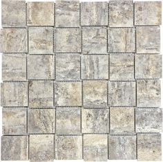 Franca x Basketweave Filled & Honed Veincut Travertine Mosaic sq. Travertine Tile, Stone Tiles, Timeless Elegance, Basket Weaving, Natural Stones, Mosaic, Commercial, Nature, Beige