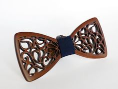 Wooden bow tie handmade natural wood Brown color use by LaaFashion